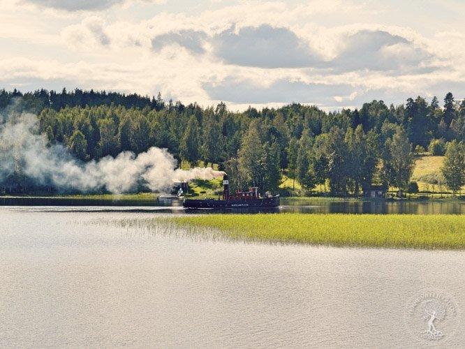 Höyrylaiva Näsijärvi II Ruovedellä elämysretkellä