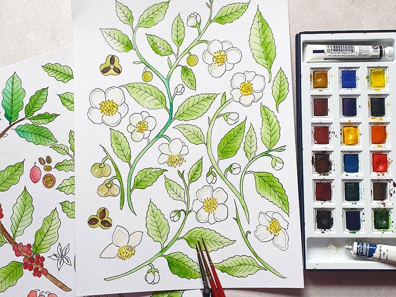 Heidi Vilkmanin maalauksia