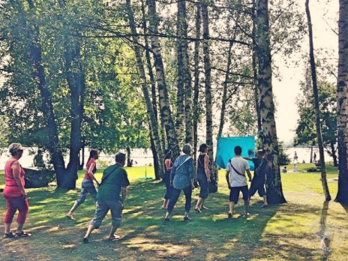 Games going on at Eteläpuisto Park, Tampere